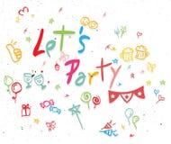 Deixe-nos party Imagem de Stock