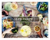 Deixe-nos Party o conceito da felicidade da liberdade do verão Imagens de Stock Royalty Free