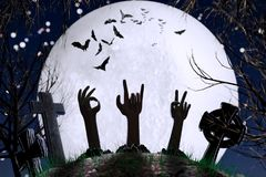 Deixe o ` Dia das Bruxas! Fotos de Stock Royalty Free