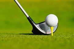 Deixe o golfe do ` s hoje! imagem de stock