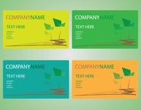 Deixe o nome de cartão Fotos de Stock Royalty Free