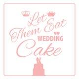Deixe-os comer o projeto do bolo de casamento ilustração do vetor
