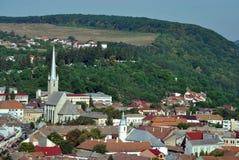 Dej city in Romania. Panorama of Romanian city Dej Stock Photo