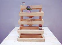 Deja de lado la madera de los pasos Imagen de archivo