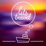 Deja el cartel del viaje Foto de archivo