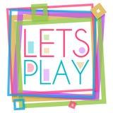 Deja el cuadrado colorido del marco del juego Imagen de archivo libre de regalías