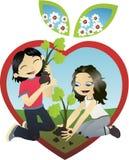 Deja la planta un árbol Fotos de archivo libres de regalías