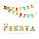 Deja las letras de la fiesta y cualidad adornadas del partido Imágenes de archivo libres de regalías