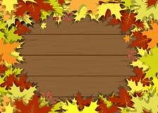 Deja vector del marco del tablero de madera Foto de archivo libre de regalías