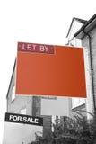 DEJADO POR el agente de la propiedad inmobiliaria Sign imagen de archivo libre de regalías