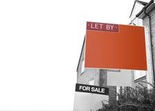 DEJADO POR el agente de la propiedad inmobiliaria Sign fotos de archivo