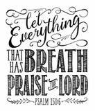 Dejado todo que hace que la respiración elogie al señor libre illustration