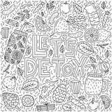Deje el detox del ` s ilustración del vector