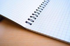 Deje el ` s escribir en un cuaderno Fotos de archivo libres de regalías