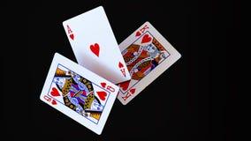 Deje las tarjetas del juego del ` s Imagenes de archivo