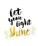 Deje su brillo ligero Imagen de archivo