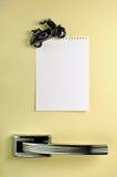 Deje un mensaje en el refrigerador Imagen de archivo