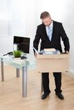 Dejected businessman made redundant Stock Photos