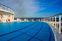 Dek van een cruisevoering Royalty-vrije Stock Afbeeldingen