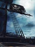 Dek van een piraatschip Stock Foto's