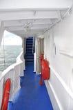 Dek van overzeese boot Stock Afbeeldingen