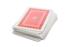 Dek van speelkaarten Royalty-vrije Stock Foto