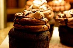 Dekadent choklad Cupcakes3 arkivbild