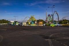 Free Dekalb County Fair On Memorial Dr Urban Fair Clear Blue Sky Parking Lot Stock Photography - 212486422