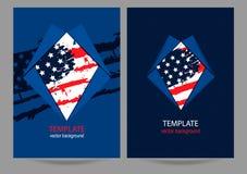 Dekking Geplaatst grunge de vlag van de V.S. Royalty-vrije Stock Foto