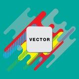 Dekking met geometrisch patroon Kleurrijke achtergronden Toepasselijk voor Banners, Aanplakbiljetten, Affiches, Vliegers royalty-vrije illustratie