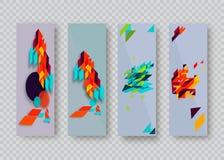 Dekking met geometrisch patroon Vormen met gradiënten Royalty-vrije Stock Foto