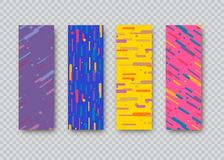 Dekking met geometrisch patroon Vormen met gradiënten Royalty-vrije Stock Foto's