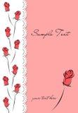 Dekking met rozen Royalty-vrije Stock Afbeeldingen