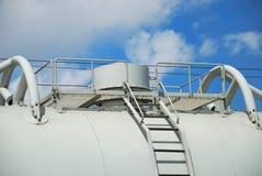 Dekking van de tank voor industriële vloeistoffen stock afbeelding
