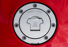 Dekking van een benzinetank Stock Fotografie