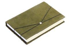 Dekking van het Fluweel van het notitieboekje de Groene (het Knippen wegen) royalty-vrije stock afbeelding