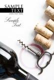 Dekking voor een wijnmakerijmenu Royalty-vrije Stock Fotografie