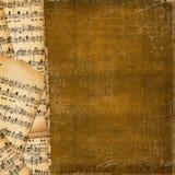 Dekking voor muziekboek op de abstracte achtergrond Stock Afbeelding