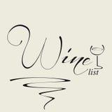 Dekking voor wijnlijst Royalty-vrije Stock Afbeelding