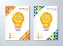 Dekkings jaarverslag vector illustratie