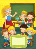 Dekkingsillustratie - goed voor dekking of diploma - illustratie voor de kinderen stock illustratie