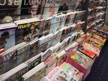 Dekkingspagina's van tijdschriften stock afbeelding