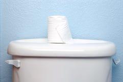 dekla rolki papieru toalety kontenera Zdjęcie Royalty Free