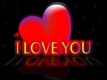 deklaraci miłość Obraz Stock