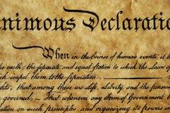 deklarację niepodległości Obraz Stock