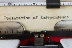 Deklaracja niepodległości fotografia stock