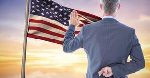 deklaruje hołdownictwo flaga z palcami krzyżującymi obrazy royalty free