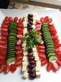 Dekonstruierter griechischer Salat Lizenzfreie Stockfotografie