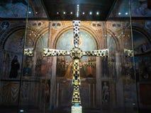 Dekor av korridoren av kyrkan Santa Maria i Solario royaltyfria foton