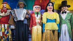 Dekor för karneval för Olinda ` s arkivbild